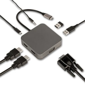 USB C adapter met 2 HDMI ingangen